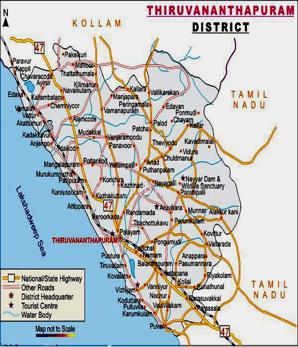 map of kerala state